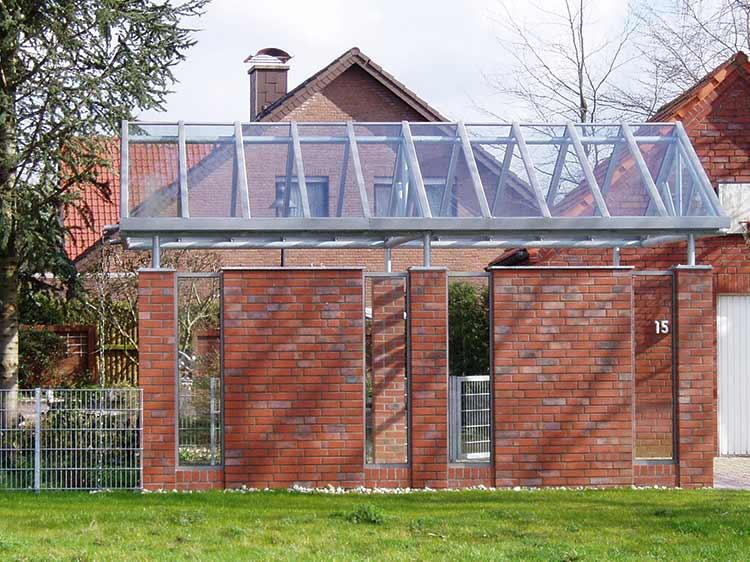 Nie ing gmbh metall und stahlverarbeitung carports for Dachkonstruktion carport